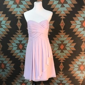 Crinkle Chiffon Dress with Cascade Detail
